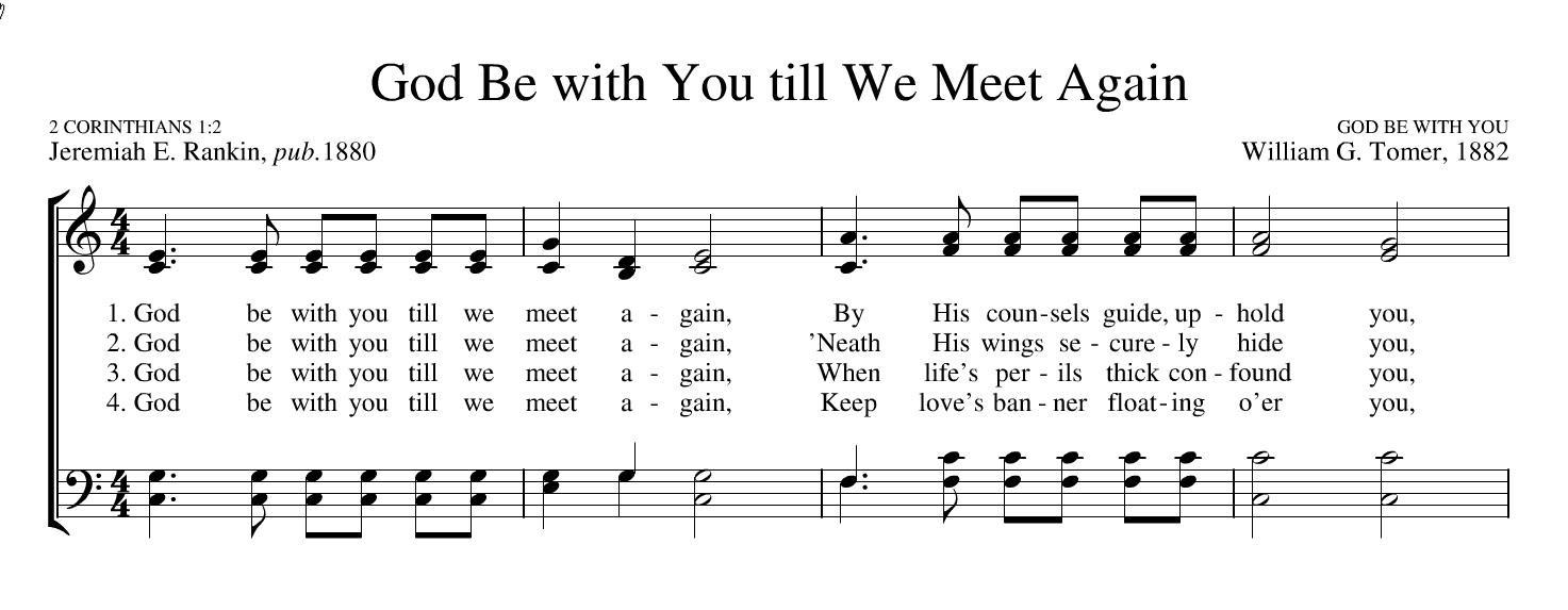 God be with you till we meet again hymnal