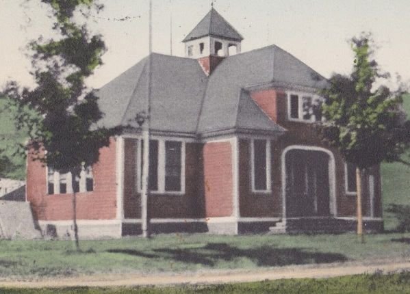 Bovina Center NY School building 1910 McIntosh